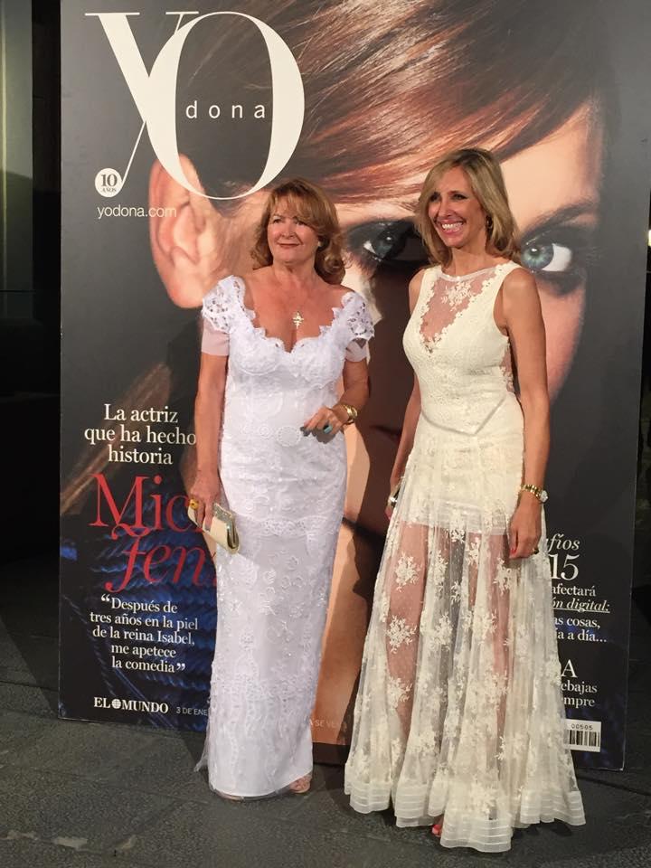 Marta Robles y Charo Ruiz en la fiesta de Yo Dona
