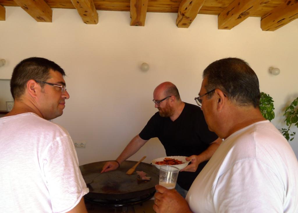 Xescu Prats, José Tur y Joan Benet